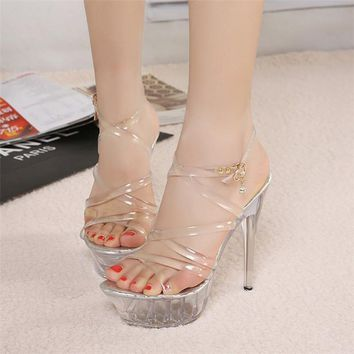 Clear Lace High Heel Pumps