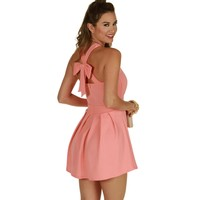 Coral Sunday Brunch Skater Dress
