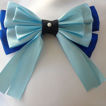 Ariel Blue Kiss the Girl Bow by Design Bowtique