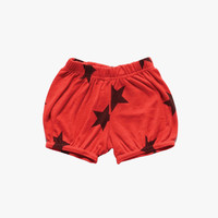 Nununu Star Yoga Shorts in Flame - NU0727