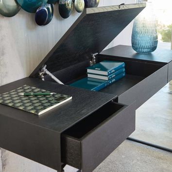 Black Metal 2-Drawer Desk | Maisons du Monde