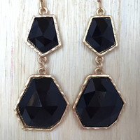 Black Geometric Earrings