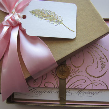 Boxed Wedding Invitation  Marie Antoinette by anistadesigns