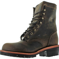 Chippewa Apache Logger Men's Leather Work Boots Wide Width Avail
