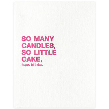 So Many Candles Birthday Card