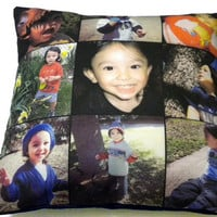 13 Inch Photo Pillow, Custom Instagram Canvas Photo Print, Gift for Weddings, Grandparents, Long Distance, Best Friends... Ships WITH Insert