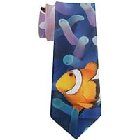 Clownfish Sea Anemone All Over Neck Tie