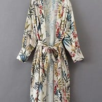 Beach Printed Long Sleeves Cardigans For Women