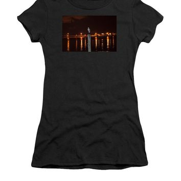 Blue Heron Night - Women's T-Shirt (Athletic Fit)
