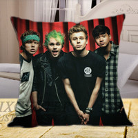 5SOS Ashton Michael Luke Calum on Square Pillow Cover