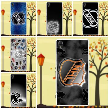 Salvestro Soft TPU Phone Case Skin Cover For Sony Xperia Z Z1 Z2 Z3 Z4 Z5 compact Mini M2 M4 M5 T3 E3 XA Nhl Logo Wood Backgroup