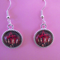 Pretty Little Liars Silver Plated Hook Earrings With Rubber Flower Stoppers