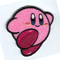 Super mario Kirby Iron On Patch