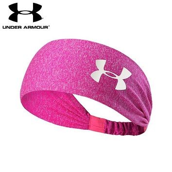 Under Armour Popular Unisex Gym Casual Headband Yoga Running Headwrap Head Hair Band Rose Red
