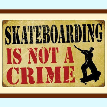 Teen Room Wall Decor, Skateboard Art, Skateboard Decor, Kids Room Art, Metal Wall Art, Teen Room Decor, Man Cave Sign, Free Shipping!