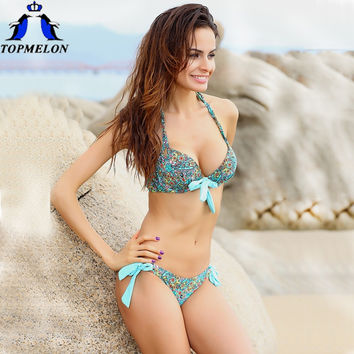 push up bikini roupa de praia  Swimwear Women Padded Boho Fringe Bandeau Bikini Set New Swimsuit Lady Bathing suit