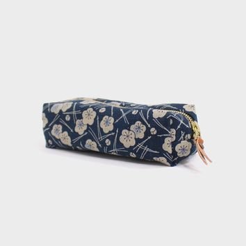 Pencil Pouch, Plum and Pine