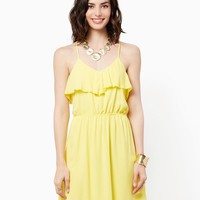 Jessa Ruffled Dress | Fashion Apparel -Tropical Escape | charming charlie