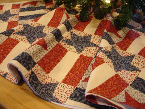 Americana Christmas Tree Skirt, Country From