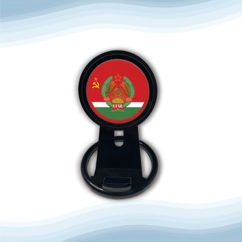 Lithuanian Soviet Socialist Republic with Coat of arms Universal Wireless Charger with Bult in Stand