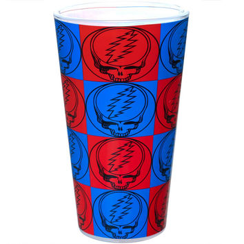 Grateful Dead - Steal Your Face Pattern Pint Glass