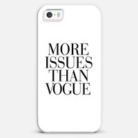 More Issues than Vogue iPhone 5s case by Rex Lambo | Casetagram