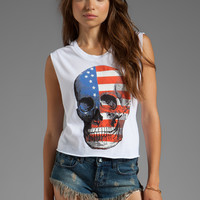Wildfox Couture American Dream Graphic Tank in Clean White from REVOLVEclothing.com
