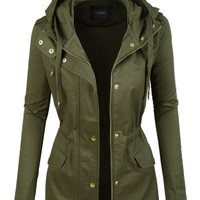 Olive Hooded Anorak Jacket