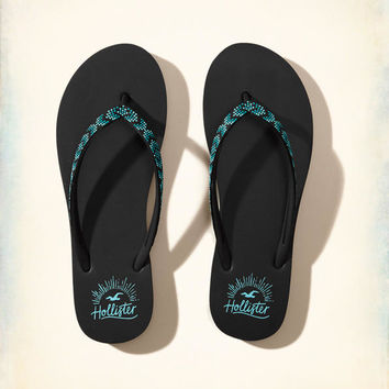 Girls Beaded Rubber Flip Flop | Girls Shoes & Accessories | HollisterCo.com