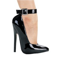 Ellie Shoes E-8261 6 Heel Fetish Pump With Ankle Strap