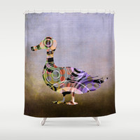 Madame Goose - P8-1 Shower Curtain by Pia Schneider [atelier COLOUR-VISION]
