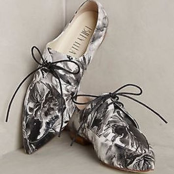 Anthropologie $228 Billy Ella Painted Perthshire Oxfords Sz 8 / 7.5 NIB
