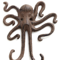 ModCloth Nautical I Squid You Not Wall Hook