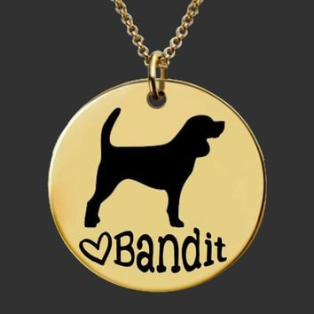 Gold Custom Personalized Dog Breed Necklace