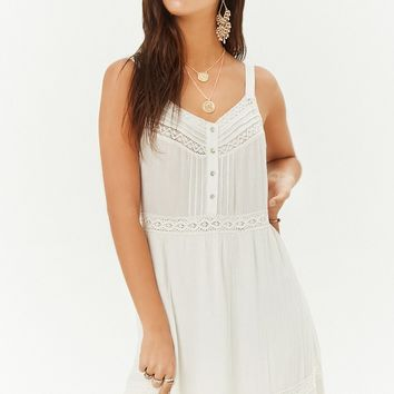 Crochet-Trim Maxi Dress