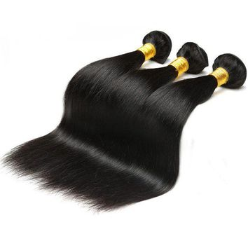 LMF78W Real Human Hair Wig 8-28 Inch Natural Color Bundle Brazilian Body Wave Hair Weaving Black Non-Remy Hair Extension