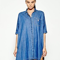 GUESS Originals Denim Tunic Shirt at Guess