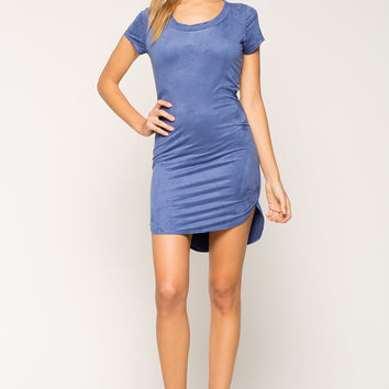 Simply Suede Tee Dress