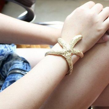 single sea star bracelet