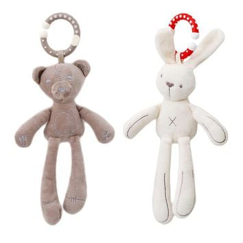 Infant Baby Rattle Cute Rabbit Stroller Wind Chimes Hanging Bell Baby Toy Doll Soft Bear Bed Appease Rattles Toys SA979169