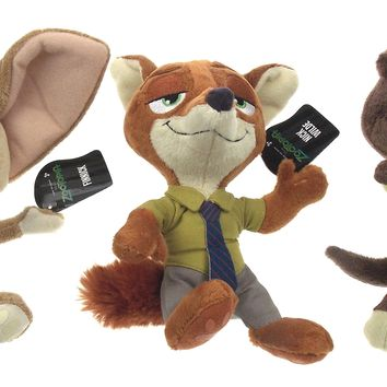 Disney Zootopia Movie Mr Otterton Finnick Nick Wilde Plush Set 3