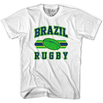 Brazil 90's Rugby Ball T-shirt-Adult