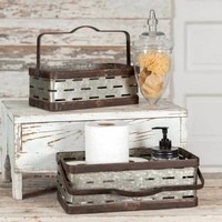 Rustic Rectangular Olive Buckets