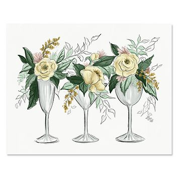 Cocktails & Flowers - Print & Canvas