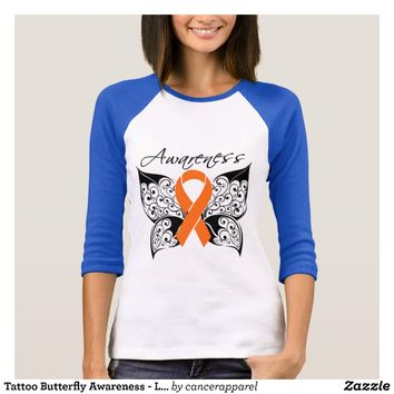 Tattoo Butterfly Awareness - Leukemia T-Shirt
