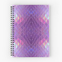'Holographic snake' Spiral Notebook by vaporspearl
