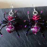★ SPikY PiNk sPiDEr eArRinGs ★ KiTsCh ★ GoTH ★ pUnK JeWeLLeRy ★ HaNdCRaFted ★