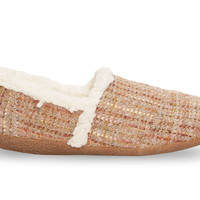 Pink Boucle Women's Slippers US