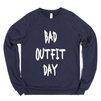 Bad Outfit Day-Unisex Navy Sweatshirt