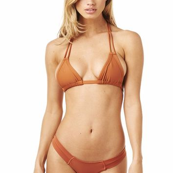 Montce Swimwear Euro Top - Terracotta | High End Designer Bikini Top